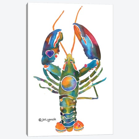 Lobster Bent Claws Canvas Print #JLY38} by Jo Lynch Canvas Artwork
