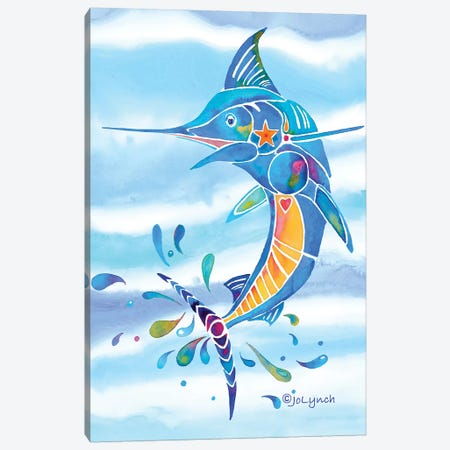 Marlin Fishing Canvas Print #JLY40} by Jo Lynch Art Print