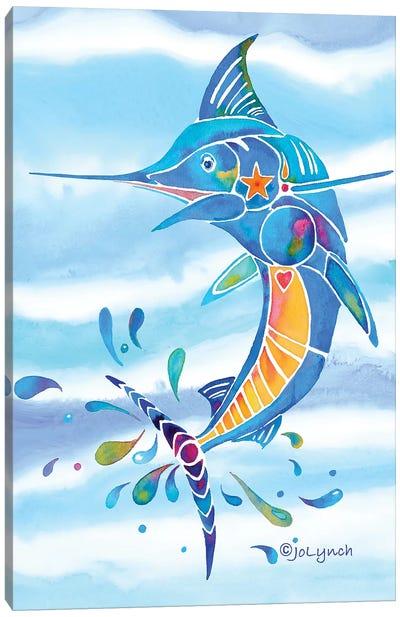 Marlin Fishing Canvas Art Print