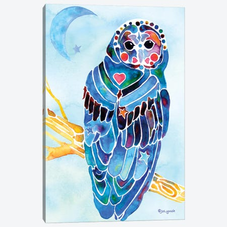 Owl Minocom Canvas Print #JLY45} by Jo Lynch Canvas Wall Art