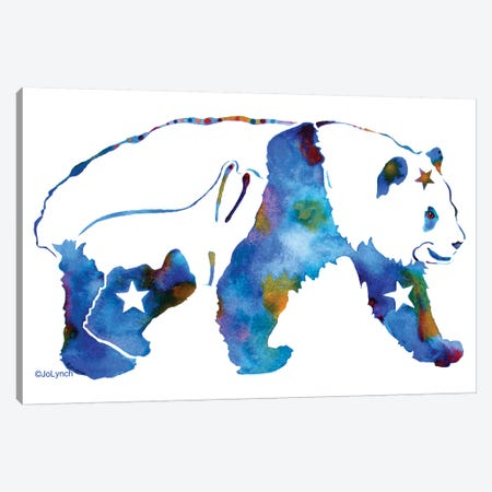 Panda Bear Canvas Print #JLY46} by Jo Lynch Canvas Wall Art
