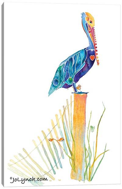 Pelican Beach Canvas Art Print