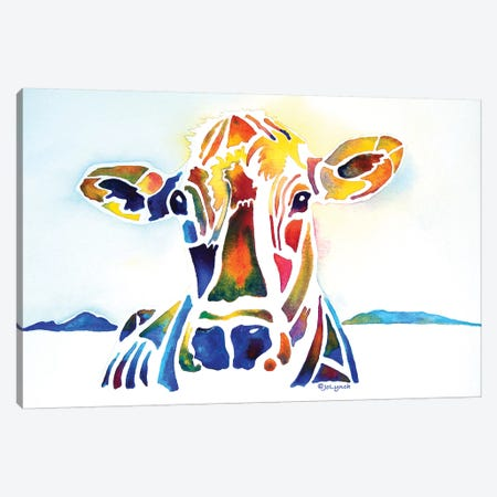 Placid Cow Farm Canvas Print #JLY49} by Jo Lynch Canvas Art Print
