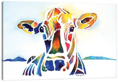 Placid Cow Farm Canvas Art Print