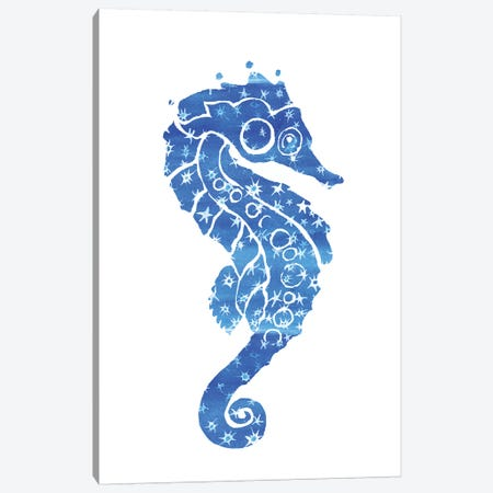 Seahorse Stars Canvas Print #JLY53} by Jo Lynch Canvas Wall Art