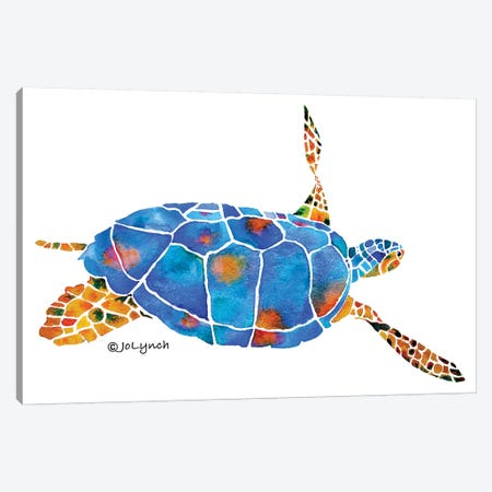 Sea Turtle IV Canvas Print #JLY57} by Jo Lynch Canvas Art Print
