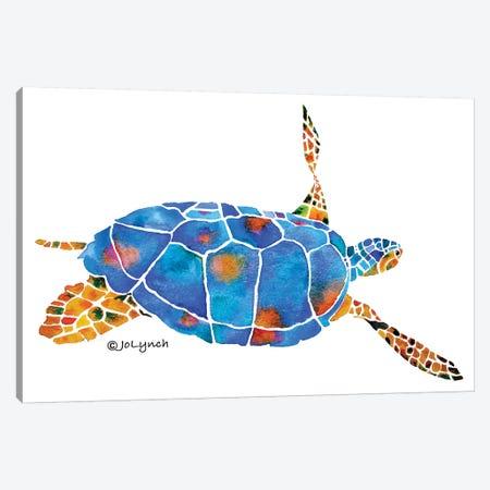 Sea Turtle IV Canvas Print #JLY57} by Jo Lynch Canvas Art Print