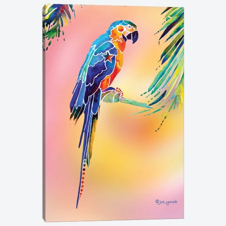 Tropical Parrot Canvas Print #JLY59} by Jo Lynch Canvas Artwork