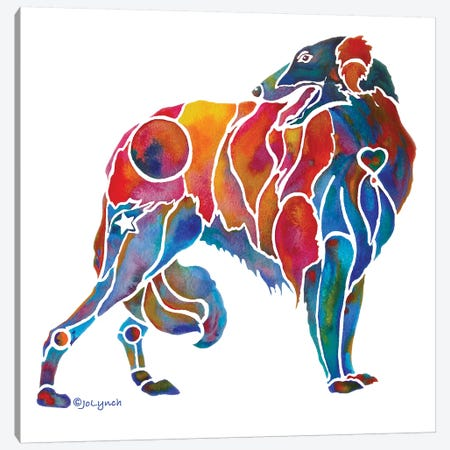 Borzoi Hound Dog Canvas Print #JLY5} by Jo Lynch Canvas Art