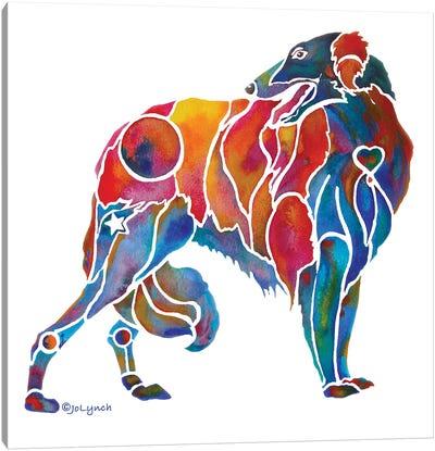 Borzoi Hound Dog Canvas Art Print