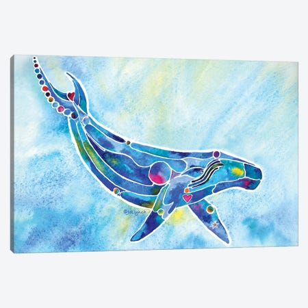 Whale Humpback Canvas Print #JLY62} by Jo Lynch Canvas Print