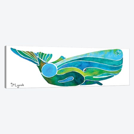 Whale Sperm Wave Canvas Print #JLY63} by Jo Lynch Art Print