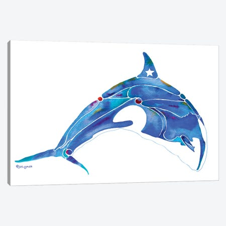 Whale Orca Canvas Print #JLY65} by Jo Lynch Canvas Art