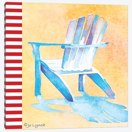 Beach Chair II Canvas Print #JLY69} by Jo Lynch Canvas Art Print