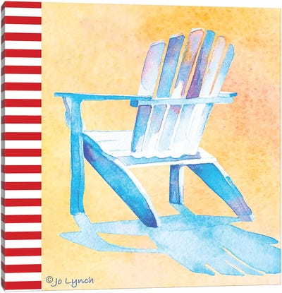 Beach Chair II Canvas Art Print