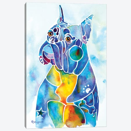 Boxer Canvas Print #JLY6} by Jo Lynch Canvas Artwork