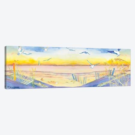 Beach Dunes Seagulls Canvas Print #JLY70} by Jo Lynch Canvas Artwork