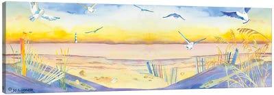Beach Dunes Seagulls Canvas Art Print