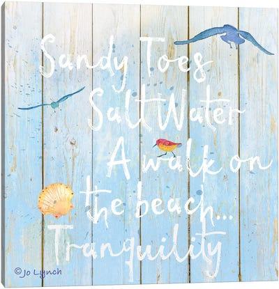 Beach Sign Sandy Toes Canvas Art Print