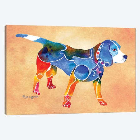 Beagle Dog Canvas Print #JLY74} by Jo Lynch Canvas Art Print