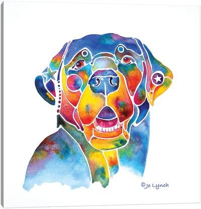 Black Labrador Lab Canvas Art Print