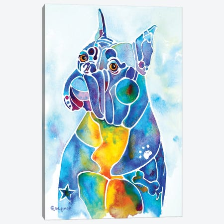 Boxer Dog Breed Canvas Print #JLY79} by Jo Lynch Canvas Wall Art