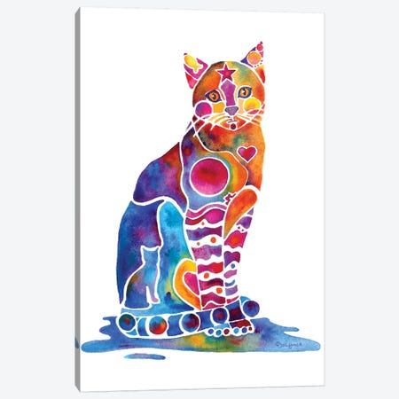 Carley Cat Canvas Print #JLY81} by Jo Lynch Canvas Art Print