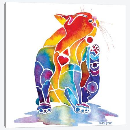 Cat Love Cat Canvas Print #JLY83} by Jo Lynch Art Print