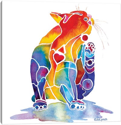 Cat Love Cat Canvas Art Print