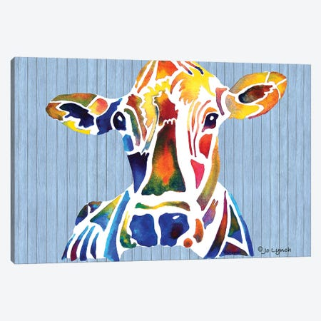 Cow Farm II Canvas Print #JLY85} by Jo Lynch Canvas Wall Art