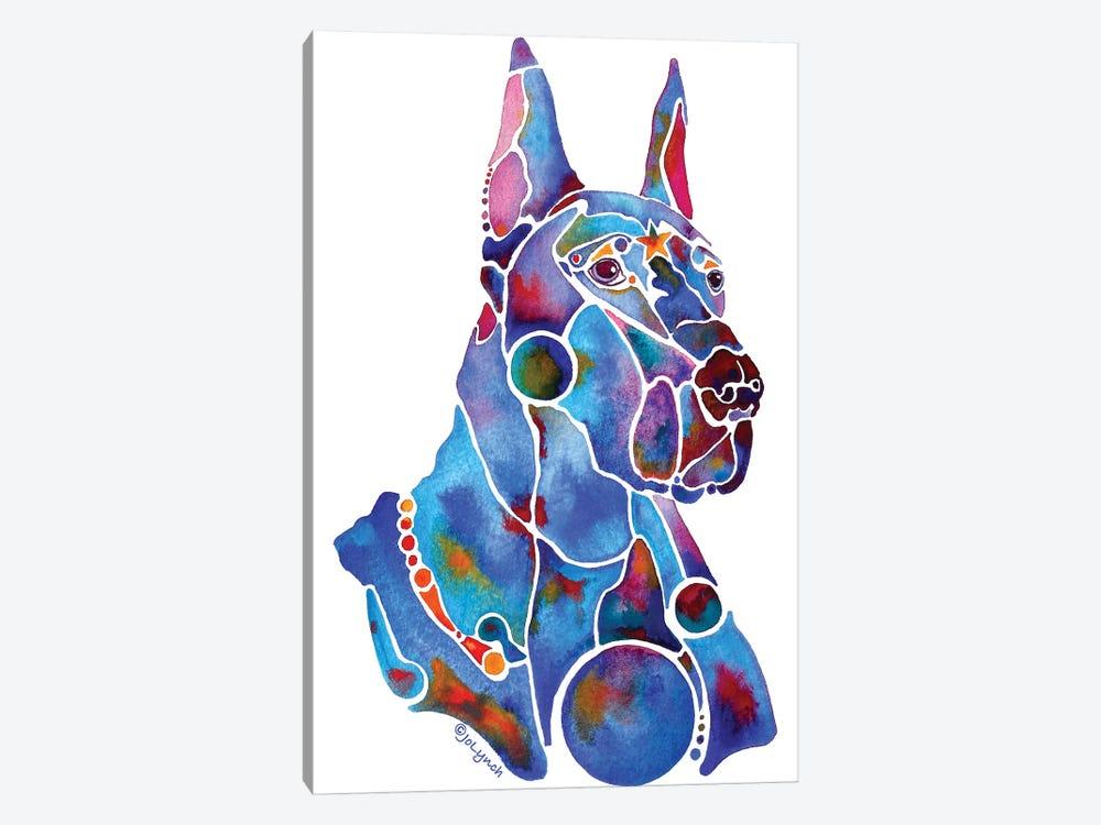 Doberman Dog by Jo Lynch 1-piece Canvas Artwork