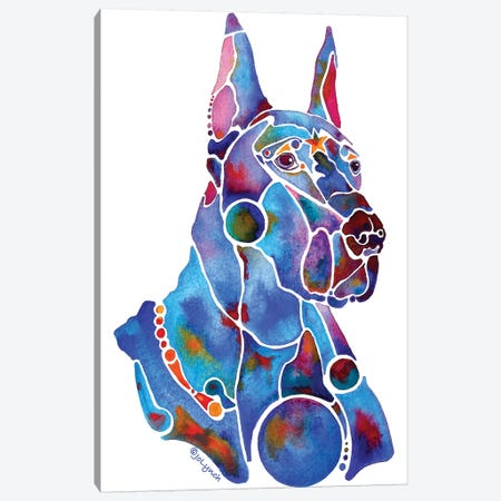 Doberman Dog Canvas Print #JLY87} by Jo Lynch Canvas Art