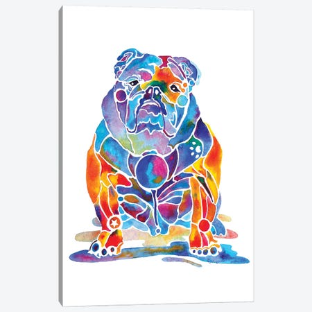 English Bulldog Canvas Print #JLY89} by Jo Lynch Canvas Art Print