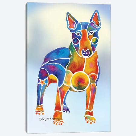 Bull Terrier Dog On Background Canvas Print #JLY8} by Jo Lynch Art Print