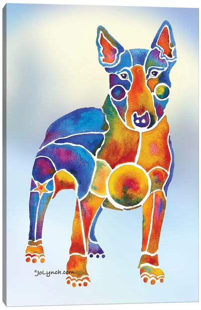 Bull Terrier Dog On Background Canvas Art Print