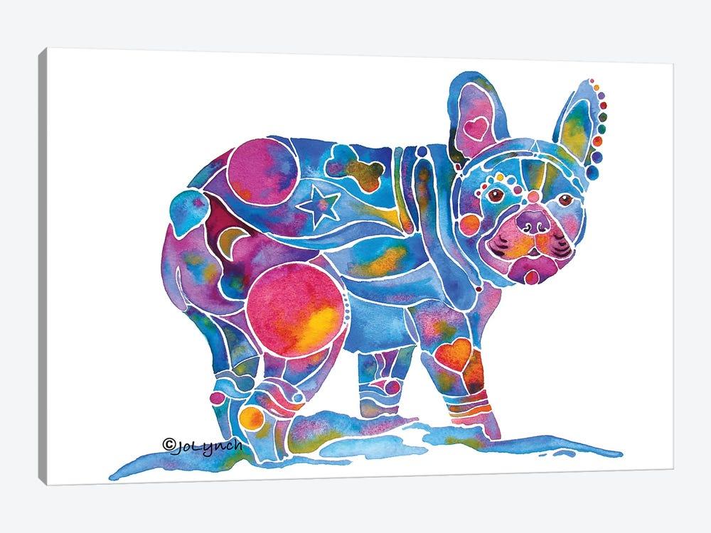French Bulldog Blue Toots by Jo Lynch 1-piece Canvas Print
