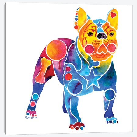 French Bulldog Canvas Print #JLY92} by Jo Lynch Canvas Art