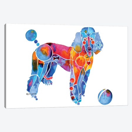 French Poodle Dog Canvas Print #JLY93} by Jo Lynch Canvas Wall Art