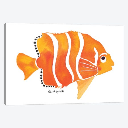 Gold Fish Orange Canvas Print #JLY95} by Jo Lynch Canvas Print