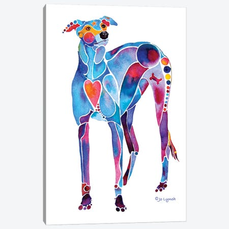 Greyhound Rescue II Canvas Print #JLY98} by Jo Lynch Canvas Artwork