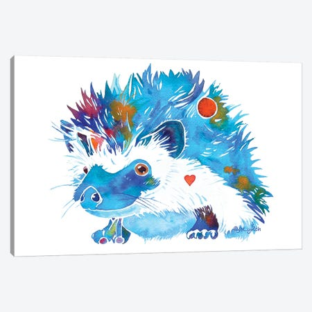 Hedgehog Canvas Print #JLY99} by Jo Lynch Canvas Artwork