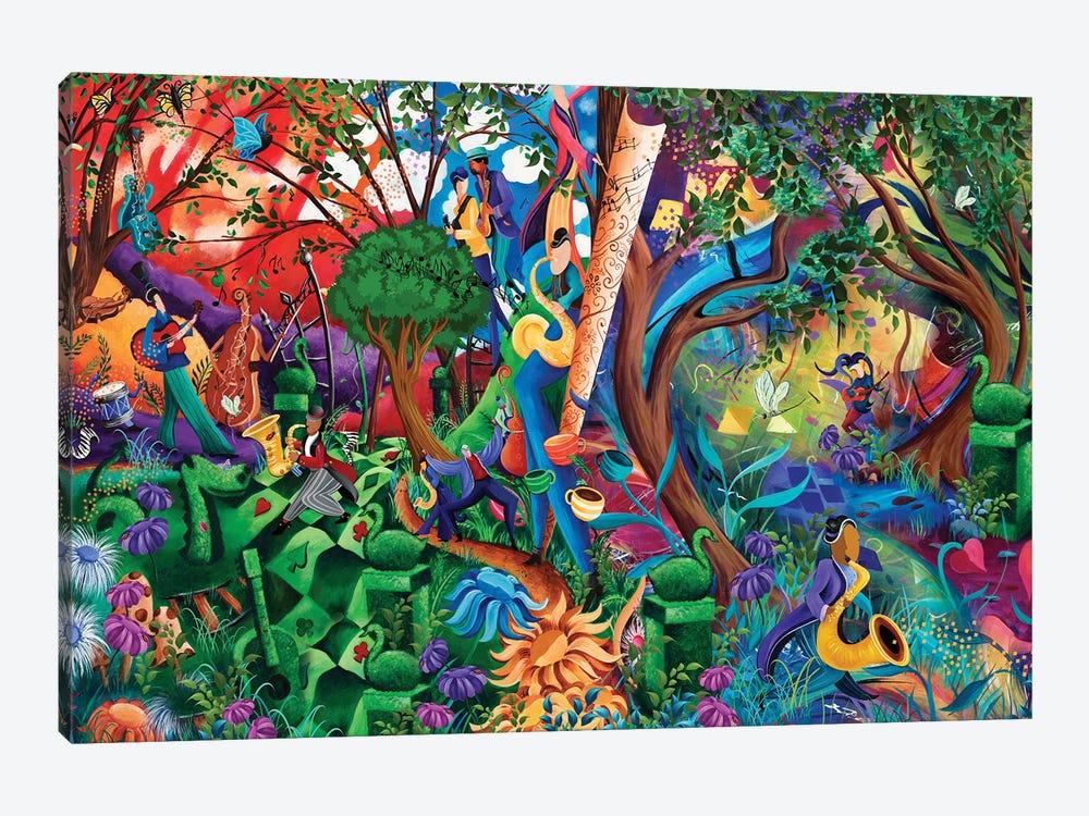 Wonderland Garden Party by Juleez 1-piece Art Print