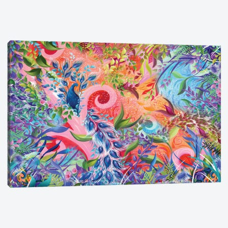 Sunset Peacock Canvas Print #JLZ18} by Juleez Canvas Art Print