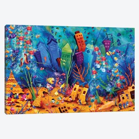 Fishadelphia Canvas Print #JLZ24} by Juleez Canvas Art Print