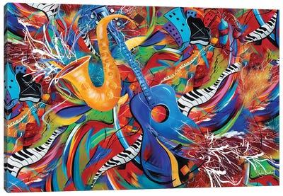 Nightlife Music Canvas Art Print