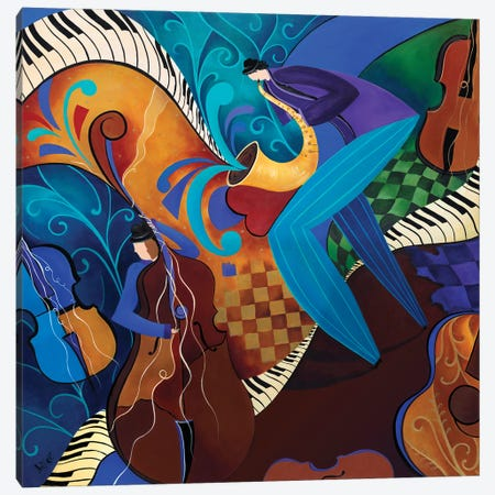 The Music Players Canvas Print #JLZ28} by Juleez Canvas Art