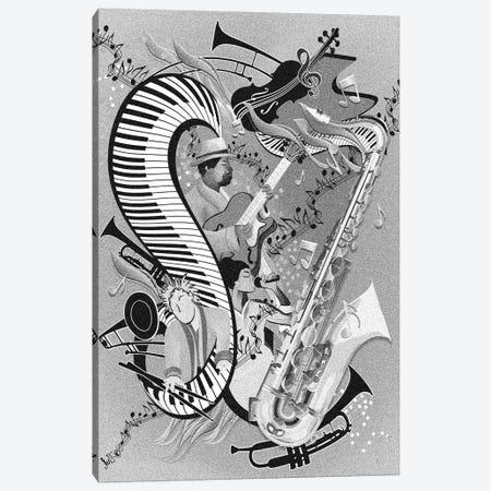 Red Hot Jazz Jam Canvas Print #JLZ29} by Juleez Canvas Art