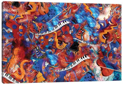 Music Madness Canvas Art Print