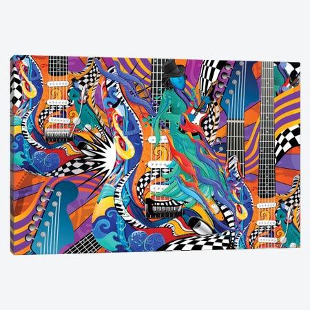 Jokers Wild Guitar Canvas Print #JLZ37} by Juleez Canvas Wall Art