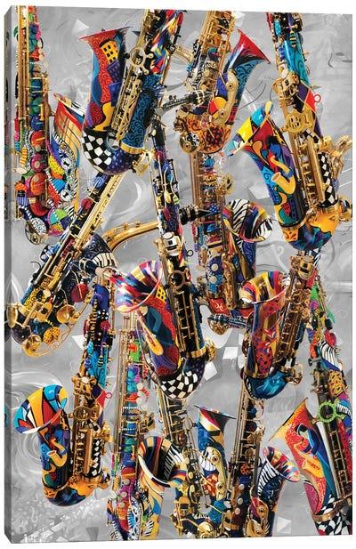 Musical Instruments Saxophone Canvas Art Print